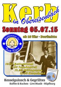 Kerbe Plakat Obereisenbach 2015