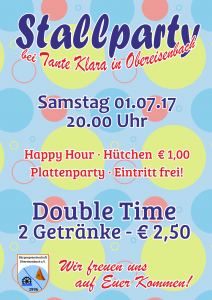 Stallparty in Obereisenbach - Happy Hour @ Stall - Tante Klara | Sankt Julian | Rheinland-Pfalz | Deutschland